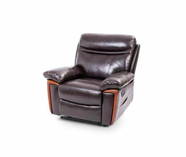 Faux Leather Massage Recliner Arm with Brown Lazy Boy Seat