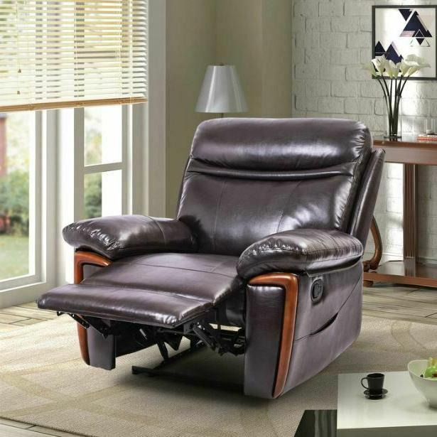 faux leather massage recliner arm chair