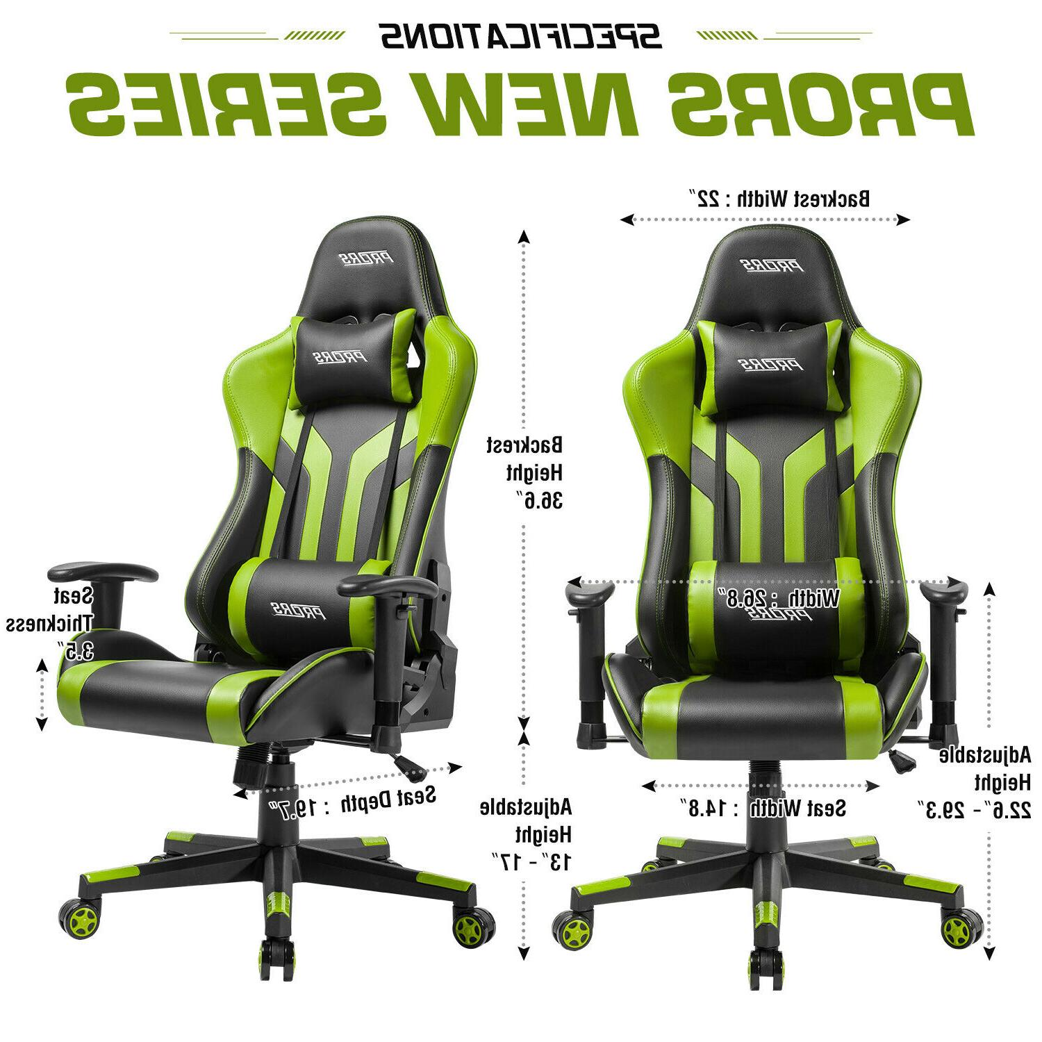 Gaming Chair Office 180° Recliner Seat Swivel Desk