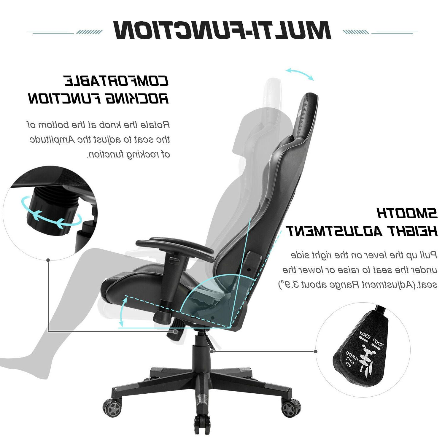 Gaming Office 180° Recliner Seat Desk