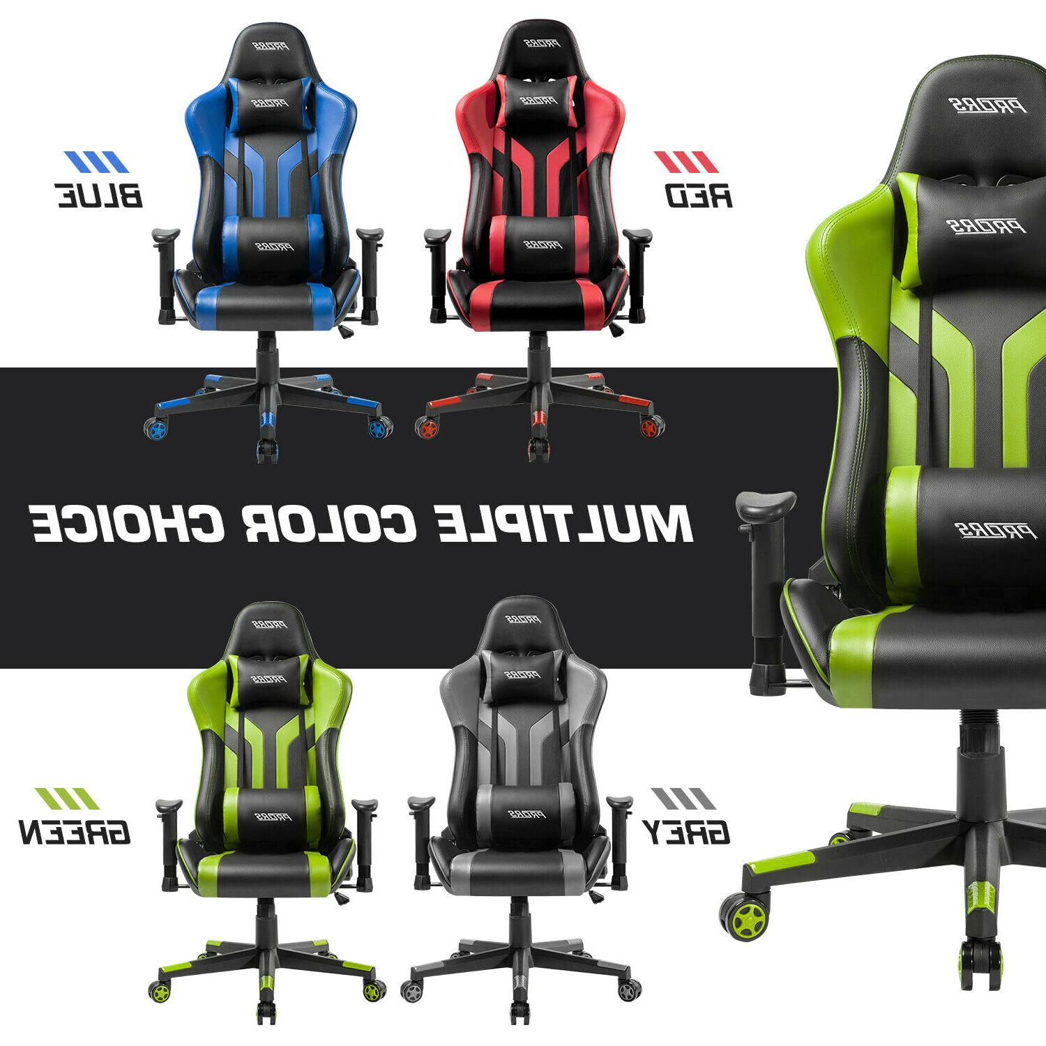 Gaming Chair Office 180° Recliner Racing Style Computer Sea