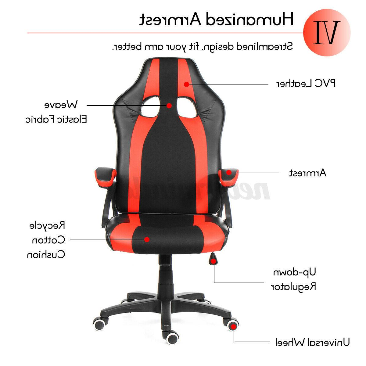 Gaming Chair Office High Footrest Ergonomic
