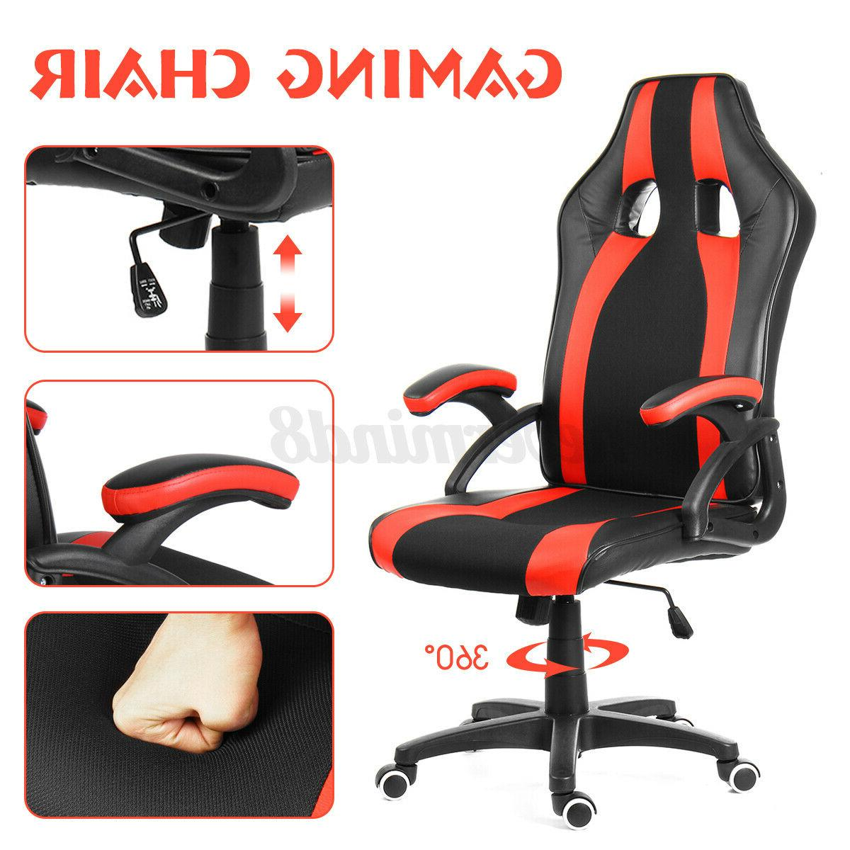 Gaming Chair Office Chairs High Footrest Recliner