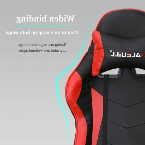 Gaming Chair Racing Leather Office Recliner Computer Seat Footrest