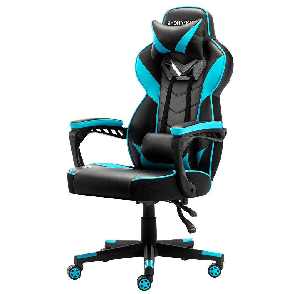 Gaming Style PU Leather Recliner Computer