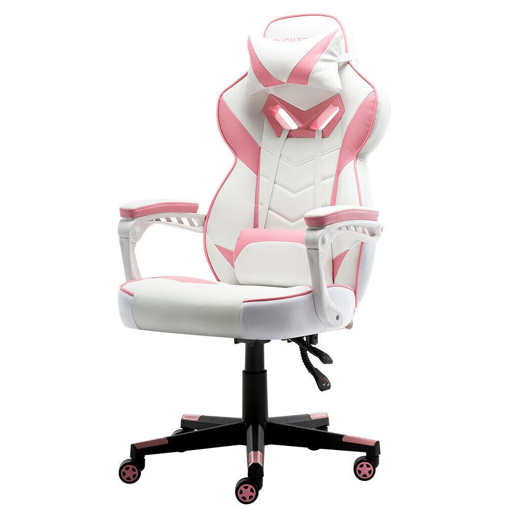 Gaming Chair Racing PU Leather Recliner Computer Swivel