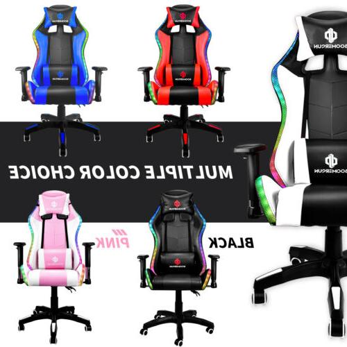 gaming chair recliner racing chair rgb led