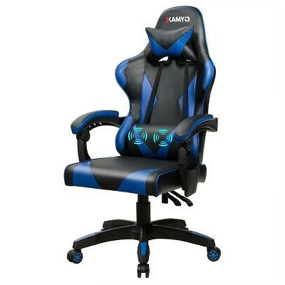 Gaming Chair Reclining Swivel with Massage Lumbar Support -B
