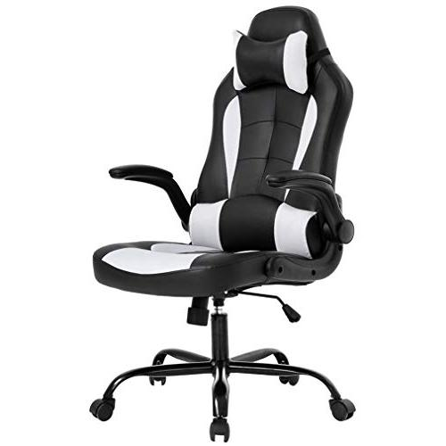 Gaming Office Chair, High-Back PU Leather Racing Chair, Recl