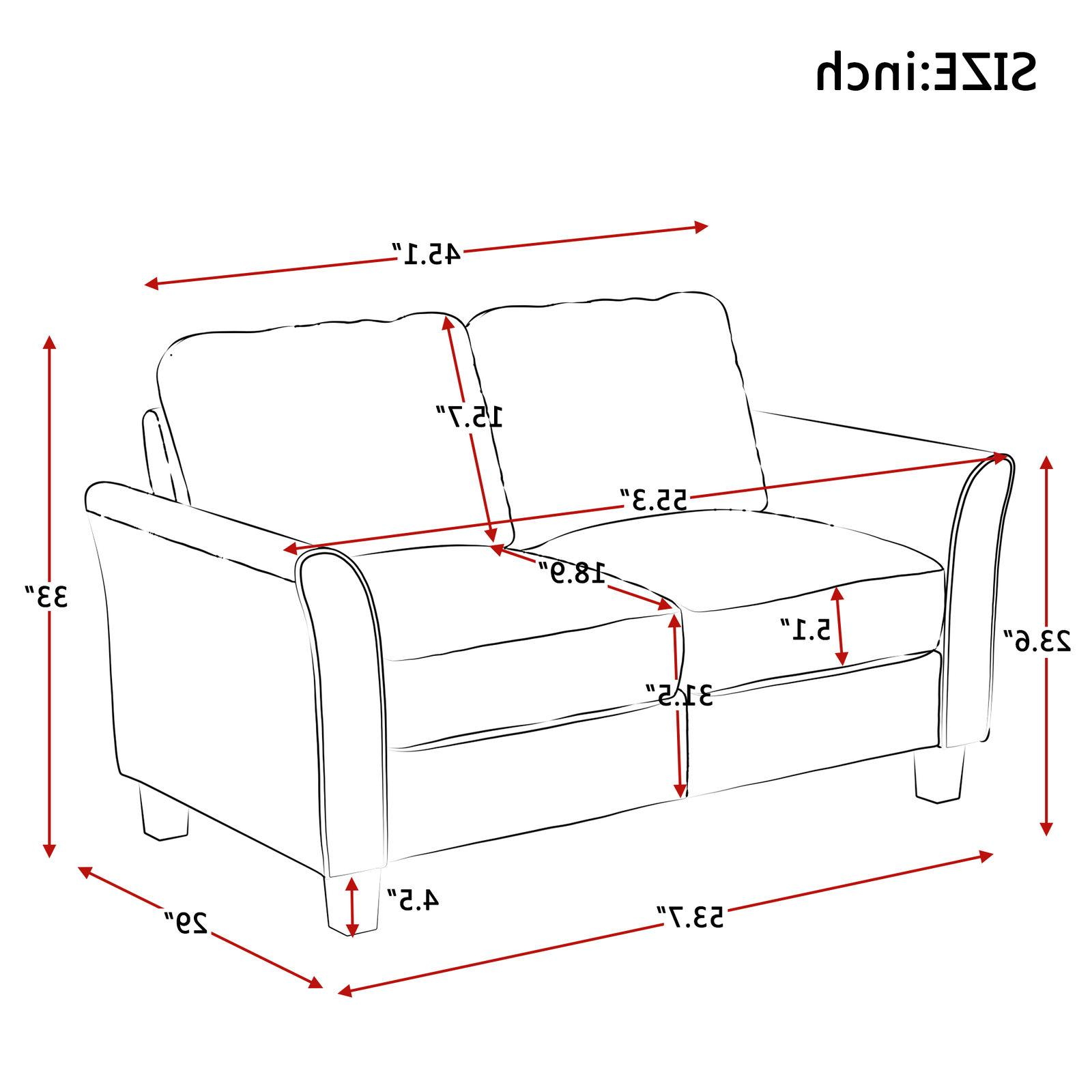 Grey 3+2 Loveseat Couch Polyester Living