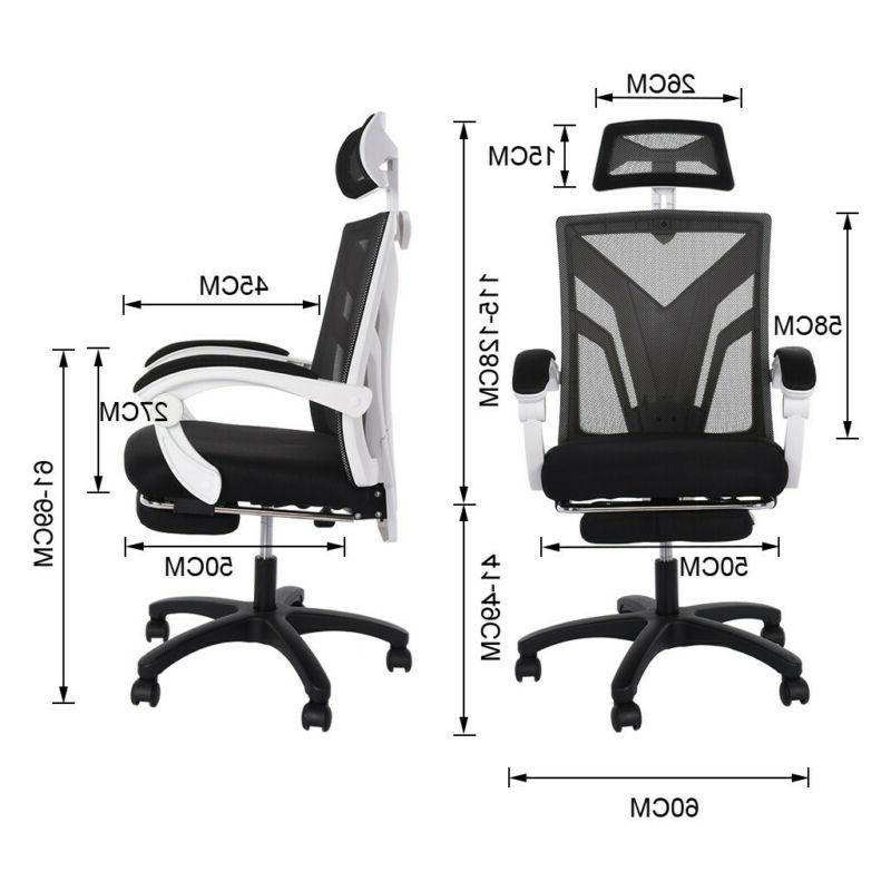 High-Back Swivel Office Adjust Height Recliner with Footrest