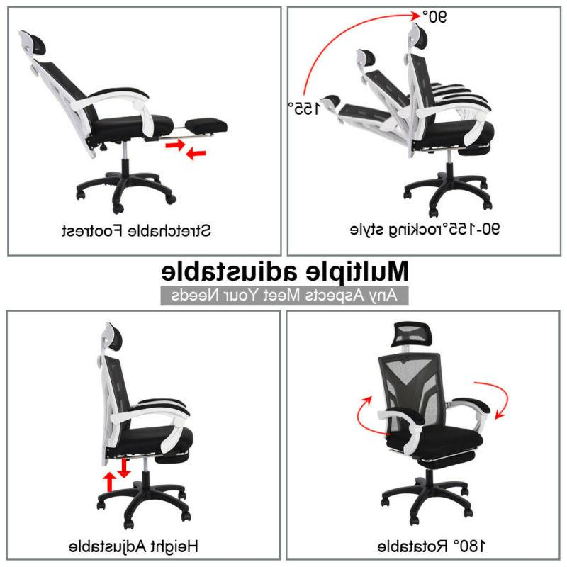 High-Back Office Chair Recliner with