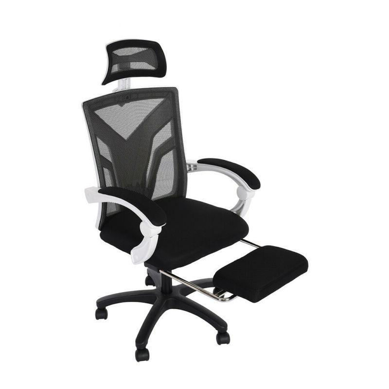 High-Back Swivel Gaming Office Adjust Height Recliner with Footrest