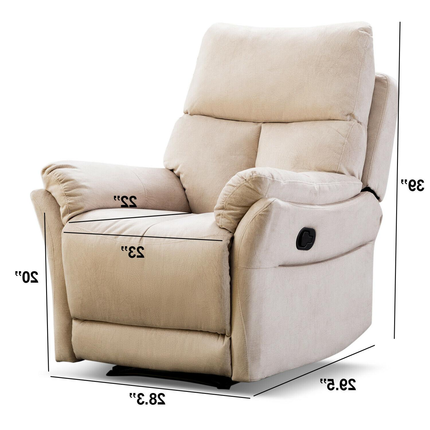 Manual Recliner Overstuffed Back Lounge Sofa Living