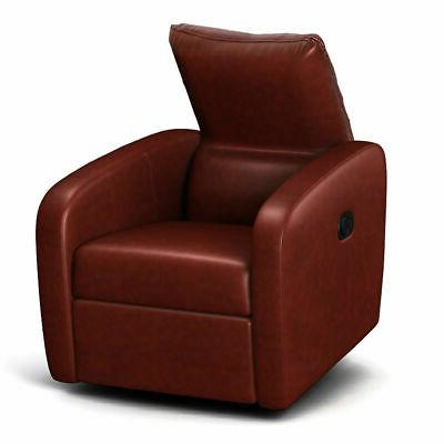 Manual Contemporary Foldable-Back Leather Reclining Sofa