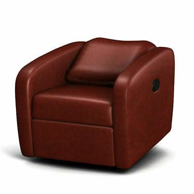 manual recliner chair contemporary foldable back leather