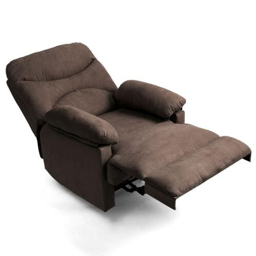 Manual Recliner Chair W/Massage Heated Control Lounge Microfiber