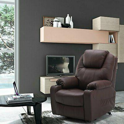 Massage Recliner Leather Vibrating Chair Lounge with Control