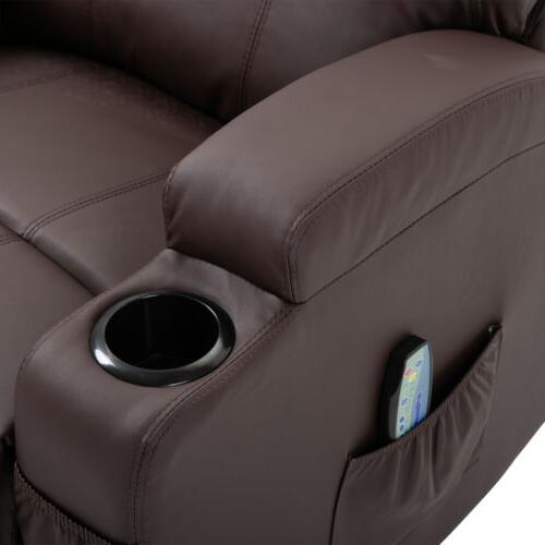 Ergonomic Leather Chair Recliner Vibrating Lounge