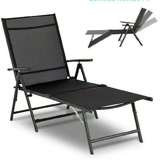 outdoor chaise lounge chair folding textiline reclining