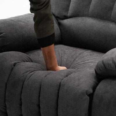 Oversize Recliner Chair Duty Back Overstuffed Padded Seat