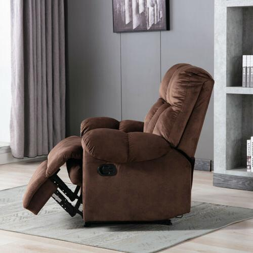 Overstuffed Recliner Chair Armchair Wide Padded Lounge Seat