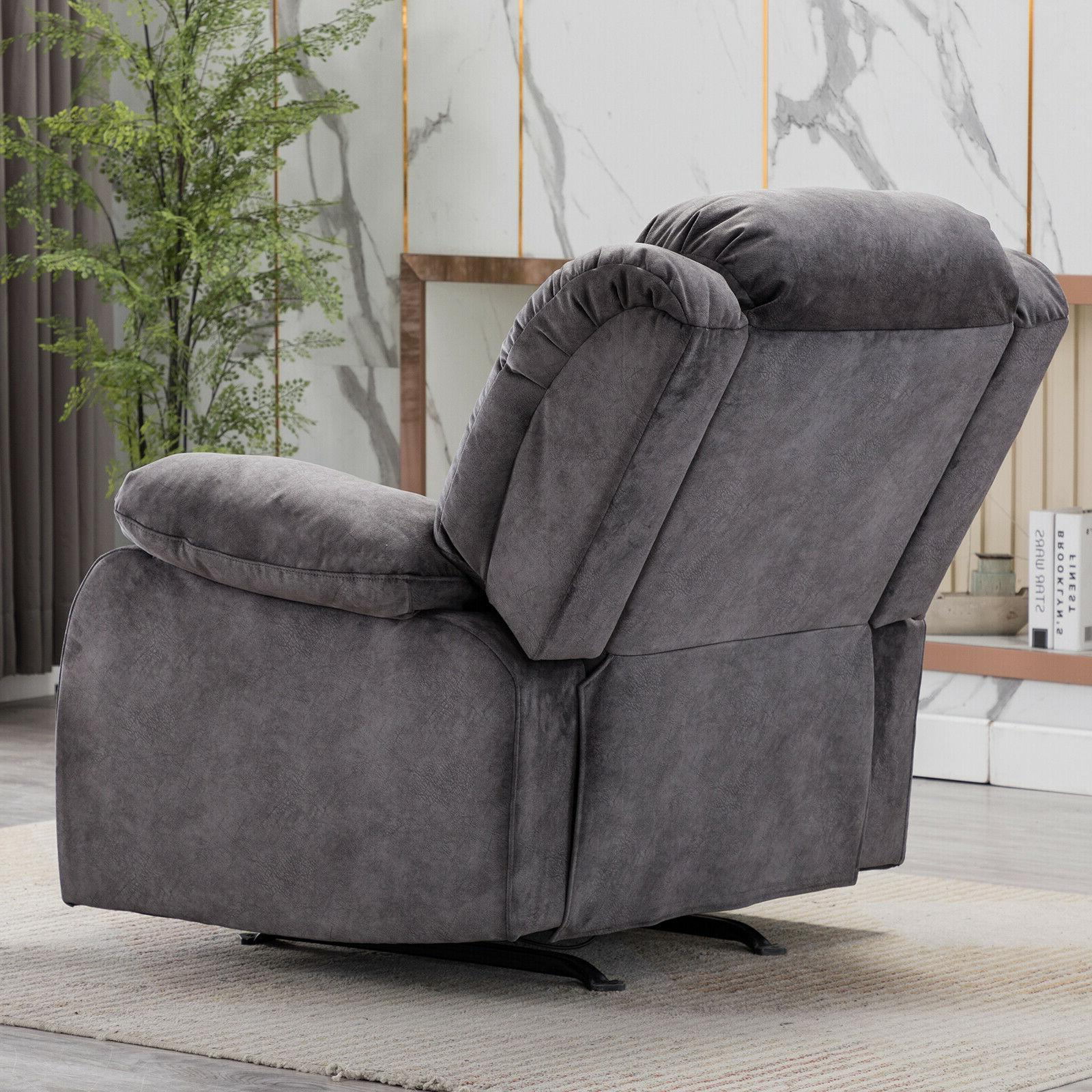 Overstuffed Recliner Chair Bayby Glider Thick Armrest Lounge Sofa