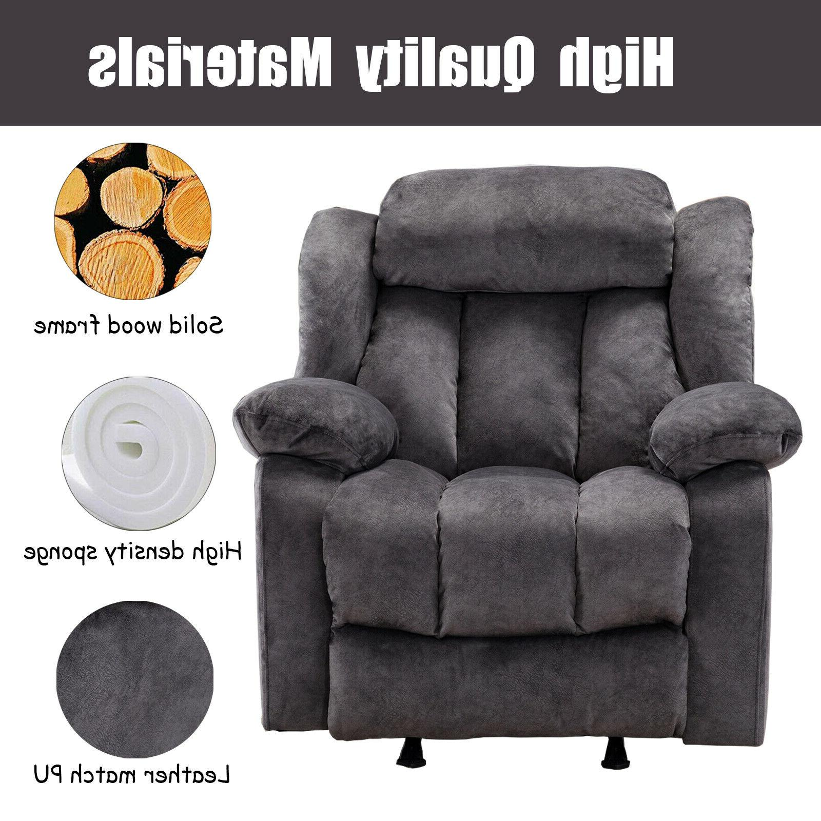 Overstuffed Chair Bayby Glider Thick Armrest Lounge
