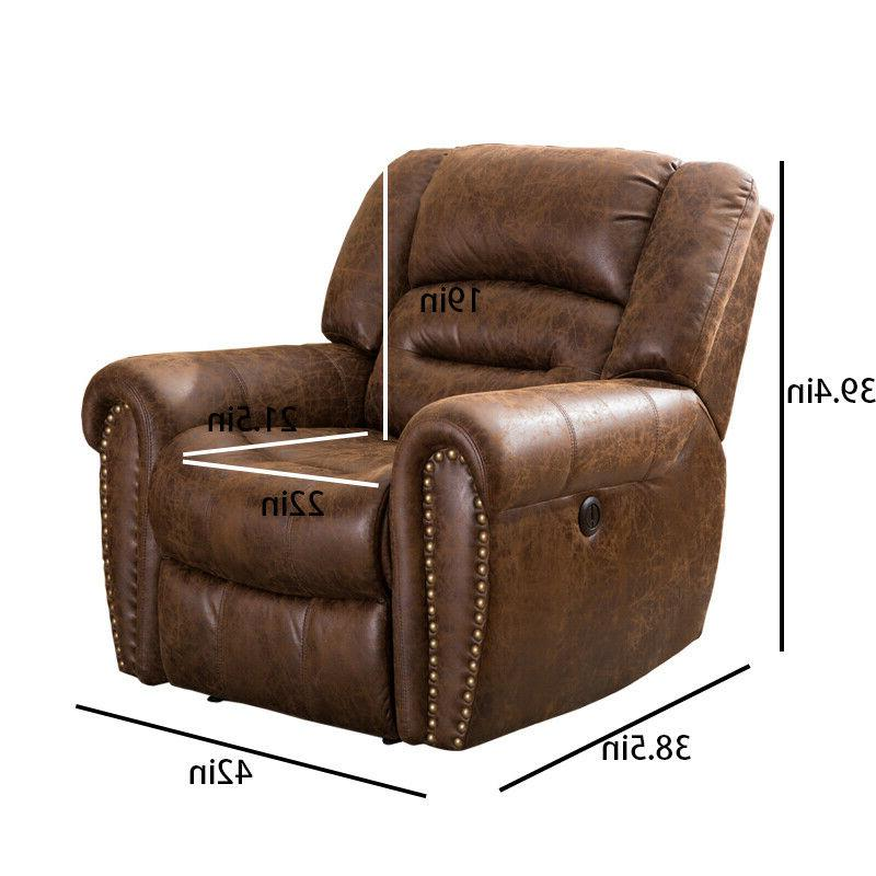 Electric Power Chair Traditional Brown Bonded