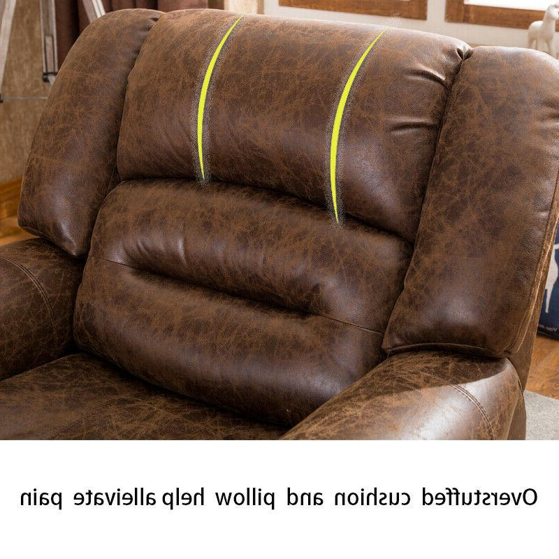 Electric Power Recliner Traditional Bonded Leather