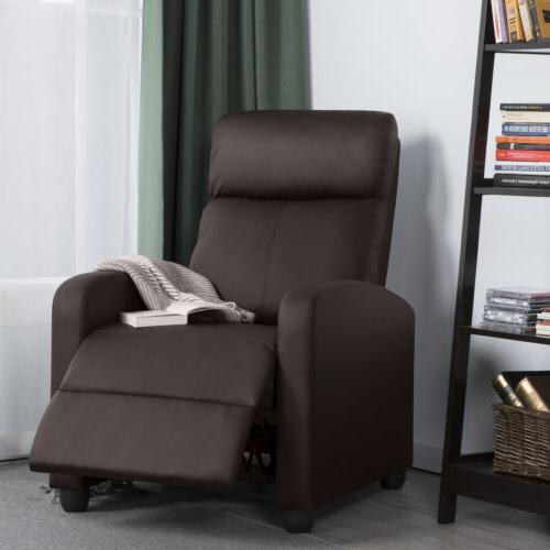 PU Recliner Chair Living Room Home Theater Seating Brown
