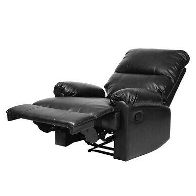 Stylish Leather Recliner Manual Single Armchair