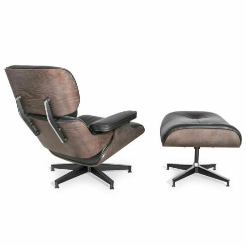 Vintage Style Eames Lounge Ottoman- 100% Top Leather