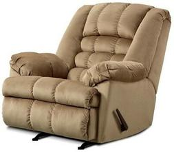 LARGE Beige Rocker Recliner Oversized Arm Chairs Recliners C