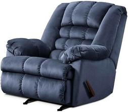 LARGE Blue Rocker Recliner Oversized Arm Chairs Recliners Ch