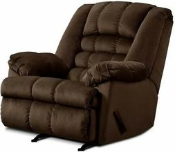 LARGE Brown Rocker Recliner Oversized Arm Chairs Recliners C