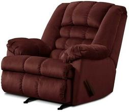 LARGE Red Wine Rocker Recliner Oversized Arm Chairs Recliner