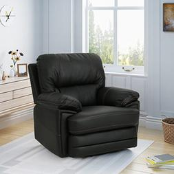 Great Deal Furniture | Laurent | Faux Leather Swivel Power R
