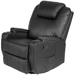 Giantex Leather Massage Recliner Chair Electric Heated Sofa