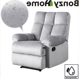Overstuffed Recliner Sofa Chair Anti-Skid Short Flush Fabric