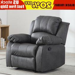 Leather Recliner Chair Overstuffed Armchair Sofa Chaise Loun
