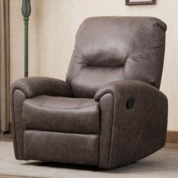Manual Recliner Chair Lazy Man Fabric Reclining Sofa Home Th
