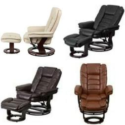 Leather Recliner with Ottoman Contemporary Stressless Chair