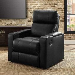 Leather Seat Lounge Sofa Recliner Home Theater Living Room W