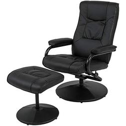 Best Choice Products Leather Swivel Recliner Chair With Foot