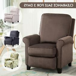 Living Room Push Back Recliner Chair Roll Arm Lounge Sofa Re