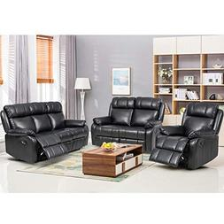BestMassage Loveseat Chaise Reclining Couch Recliner Sofa Ch