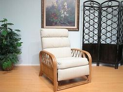 Made in USA Rattan Recliner Chair