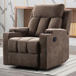 Manual Recliner Chair Contemporary Home Theater Recliner Wit