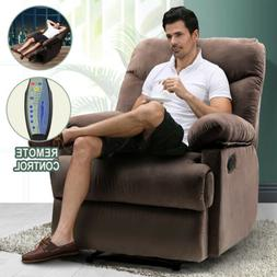 Manual Recliner Chair W/Massage Heated Control Lounge Sofa M